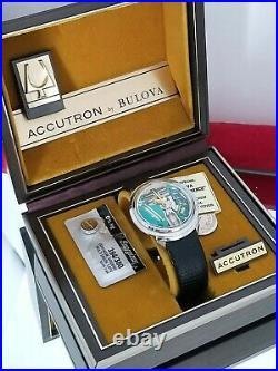 Accutron SpaceviewBTurtle Yellow Dot. 1964. Ext Bat&Coin. Accutron Box. Free Ship