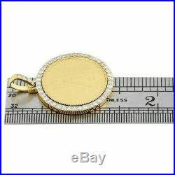 American Eagle Liberty Coin Round Diamond Mounting Pendant 14K Yellow Gold Over