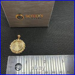 American eagle coin & Rope Necklace 10k Gold