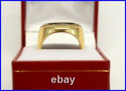 Antique 14K Yellow Gold Ancient Greece ALEXANDER THE GREAT Coin Ring HEAVY