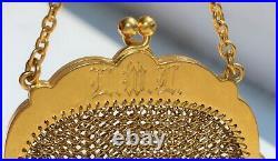 Antique Vintage Victorian 14 Karat Yellow Gold Fringe Mesh Coin Purse Jewelry