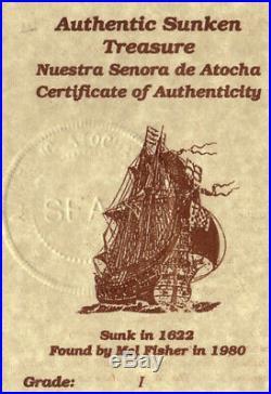 Atocha Sunken Treasure Jewelry Large Museum Reale Silver Coin Pendant