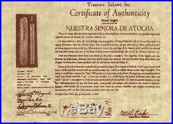 Atocha Sunken Treasure Jewelry Odd 1 Reale Silver Coin Pendant