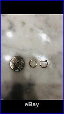 Authentic Roberto Coin 18K Yellow Gold Diamond Hoop Earrings