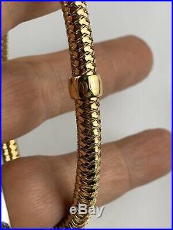 Authentic Roberto Coin 18 k Gold Flex Primavera Bracelet Bangle 13 grams