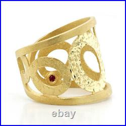 Authentic Roberto Coin Chic and Shine Open 18k Yellow Gold Ring Size 6 to 7