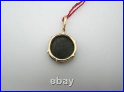 B443 Antique 14kt Yellow Gold Coin Pendant