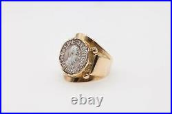 BAKARAT Beverly Hills $3850 18k Yellow Gold ANCIENT COIN Band Ring 13g RARE