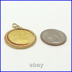 Bahamas Flamingo 25 Twenty Five Dollars 14k Gold Coin 1992 Charm Pendant 10gr