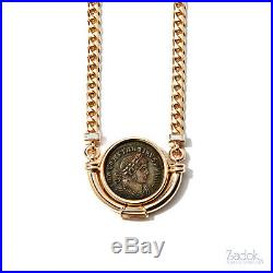 Bulgari Bvlgari Ancient Coin Necklace Constantine 18k Yellow Gold and Diamonds