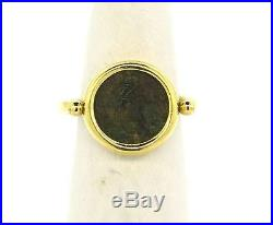 Bvlgari Bulgari Monete Ancient Coin 18k Yellow Gold Flip Ring