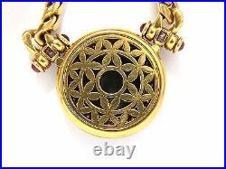 Byzantine ancient coin 6.00ct diamonds Cuban Link necklace 18kt +