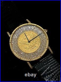 CORUM Bicentennial 18KYG $5 US Coin with 257 Dmds! Ltd Ed of 75! $65K APR with CoA