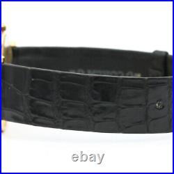 CORUM Coin Watch Indian 18K Gold Leather Quartz Unisex Watch BF510626