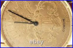 Corum 18K 1904 $20 Liberty coin men's watch with sapphire crown & original buckle