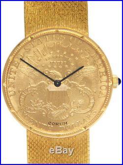 Corum $20 1894 Liberty Eagle Gold Coin Mens 35mm Manual Watch