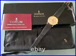 Corum $20 U. S. Gold Coin 1895 Quickset date Yellow Gold Mens Watch