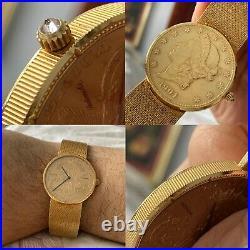 Corum AUTOMATIC Diamond Coin Crown $20 Dollar 750 Gold Watch & Bracelet FULL SET