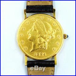 Corum Automatic 1894 U. S. $20 Liberty head gold coin 18K wristwatch, 35mm, box