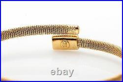 Designer Roberto Coin. 50ct VS G Diamond 18k Yellow Gold Bangle Bracelet