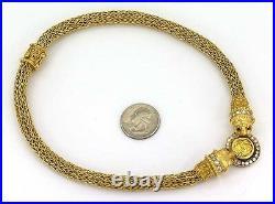 Designer Zolotos 18k Yellow Gold, Diamonds & Coin Ladies Dress Cocktail Necklace