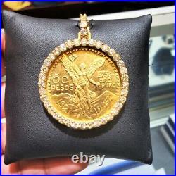 Diamond Mexico Centenario Coin Pendent