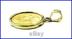 Dos Y Medio Pesos Mexican 2 1/2 Pesos Gold Coin Necklace Charm Pendant
