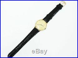 ESKA COIN VINTAGE Rare 18K 750 Solid Yellow Gold Men`s Watch Qwartz Swiss