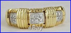 Estate Roberto Coin 18K Yellow Gold Appassionata Diamond Ring Band Size 6 1/2