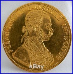 FRANC. IOS. I. D. G. AVSTRIAE IMPERRATOR 13.9 GR 1915 Gold Coin