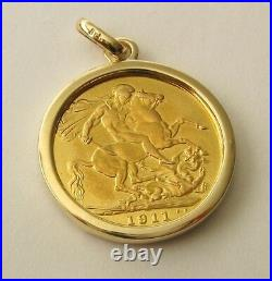 GENUINE SOLID 9K 9ct YELLOW GOLD FULL SOVEREIGN COIN HOLDER PENDANT