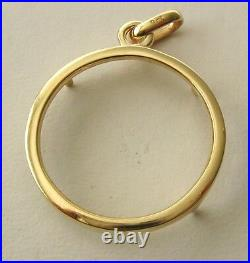GENUINE SOLID 9K 9ct YELLOW GOLD HALF SOVEREIGN COIN HOLDER PENDANT