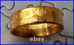 Gold Coin Ring, from 1/2 oz 22K gold eagle coin