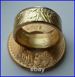 Gold Coin Ring from 22K 1 oz gold eagle coin
