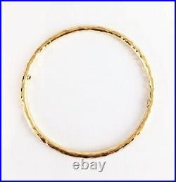 Gorgeous $2500 ROBERTO COIN Martellato 18k Yellow Gold Bracelet Bangle 8