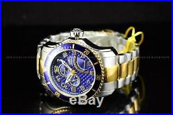 Invicta Men's 49mm Pro Diver Coin Edge Renegade Day Two Tone Blue Dial SS Watch
