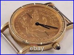 Ladies Corum $5 U S Gold coin watch, Quartz, Just Serviced, Excellent Condition