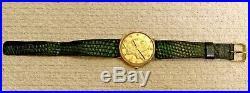 MATHEY TISSOT Liberty Coin Watch 14k Yellow Gold Case 34mm 17 Jewels
