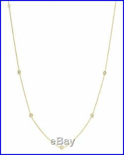 MINT! $1080 Roberto Coin 18K Yellow Gold 5 Station Diamond by the Yard Necklace
