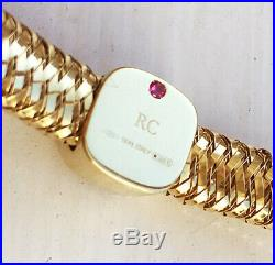 MINT! $2500 Roberto Coin 18k Gold Diamond Station Flex Primavera Bracelet Bangle