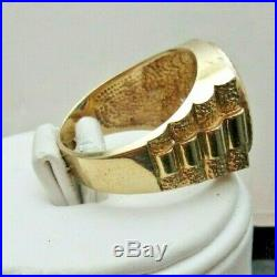 Men's 14k Yellow Gold ROLEX Coin Ring Setting