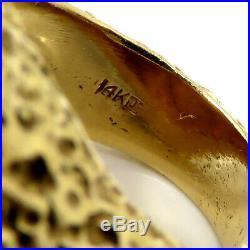 NYJEWEL 14k Yellow Gold Liberty Head $5 Five Dollar Gold Coin Ring