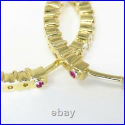 NYJEWEL Roberto Coin 18k Yellow Gold 3.5ct Diamond Inside Out Hoop Earrings