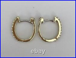 New Authentic Roberto Coin 18kt yellow gold diamond 0.20 ct hoop earrings