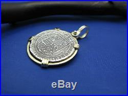 Piece of 8 Pirate Coin REPLICA of Actual Recovered Treasure Cobb Pendant 14k Bez