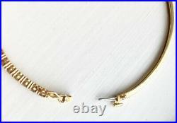 RARE! $4700 ROBERTO COIN 18K Gold Champagne Diamond Bangle Bracelet 6.75