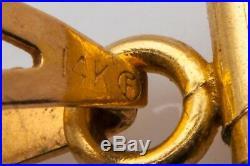 RARE SINGAPORE 24k Gold COIN TIGER CAT 14k Charm Pendant