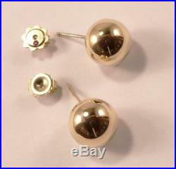 ROBERTO COIN 18K YELLOW GOLD BALL ROUND STUD POST EARRINGS, 12.33 mm