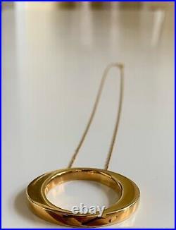 ROBERTO COIN 18K Yellow Gold Circle Pendant Necklace