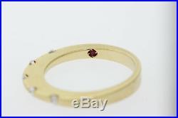 ROBERTO COIN 18k Yellow Gold. 17ct Round Diamond Tension Set Band Ring Size 6.5